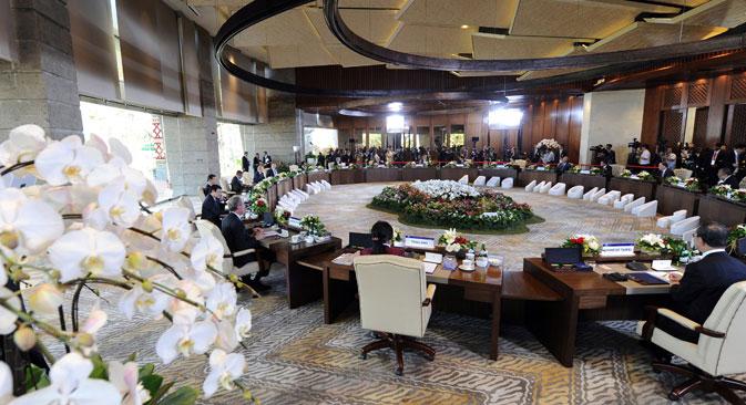 10月7~8日にインドネシアで開催される第25回APEC(アジア太平洋経済協力)サミット=Photoshot/Vostock Photo撮影