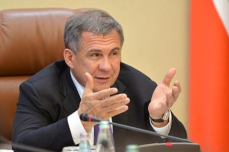 タタルスタン共和国のルスタム・ミンニハノフ大統領=写真提供:Press Photo