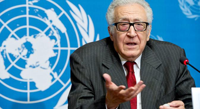 国連およびアラブ連盟・特別代表のラクダル・ブラヒミ氏=写真提供:unmultimedia.org