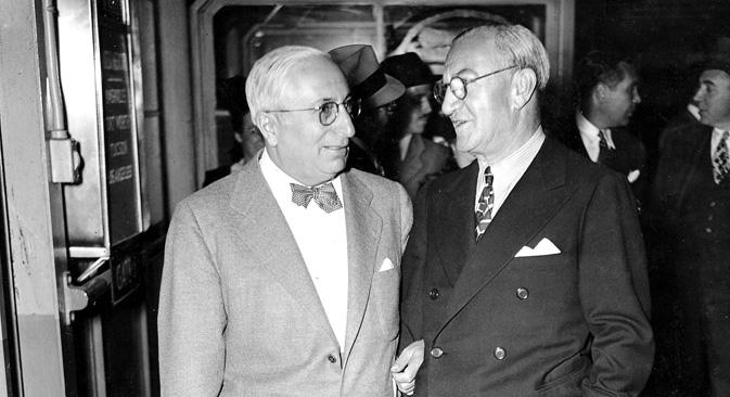 ルイス・B・メイヤー(左側)とニック・シェンク=Getty Images/Fotobank 撮影