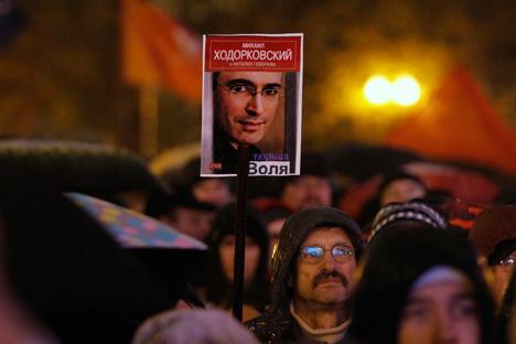 「ホドルコフスキー氏はもう10年以上収監されている。重い懲罰だ。(恩赦の)決定をすべきだと思う」=ロイター通信撮影