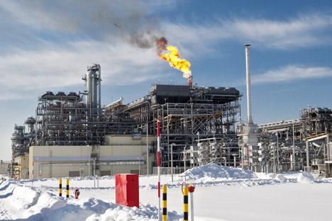 ガス採掘会社「ヤマルLNG」の取締役会は、ヤマル半島でのLNG工場の建設について、最終的な投資決定を行った=セルゲイ・クラスノウホフ / ロシア通信撮影