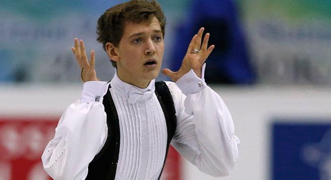 最初に終了した男子シングルには、18歳のマクシム・コフトゥンが、2005年以来初のロシア人選手として出場した。=ロイター/ボストーク撮影