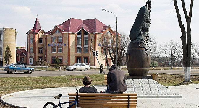 ルホヴィツィのキュウリはわずか10年で、ロシア全土に知られるまでになった=タス通信撮影