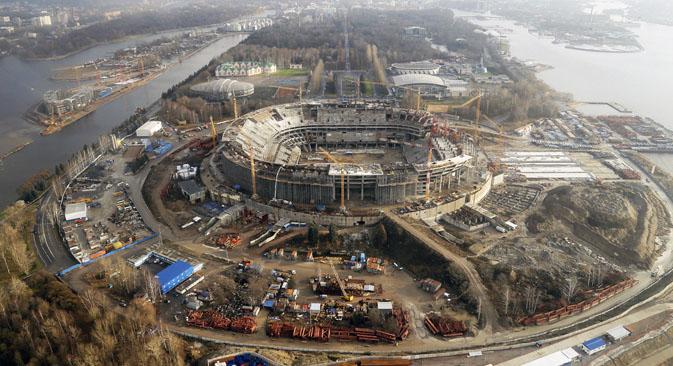 FCゼニト・サンクトペテルブルクの新ホームスタジアム、「ガスプロム・アリーナ」=PhotoXPress撮影