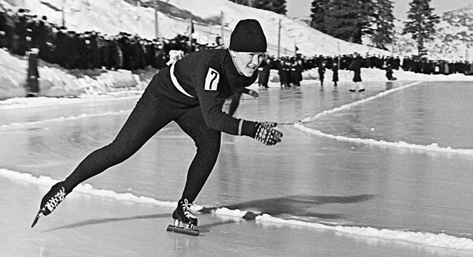 伝説のスピードスケート選手リディア・スコブリコワ=ロシア通信撮影