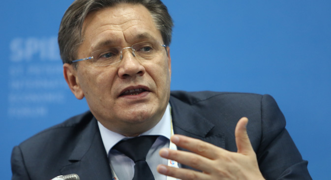 ロシアのアレクセイ・リハチョフ経済発展次官=タス通信撮影