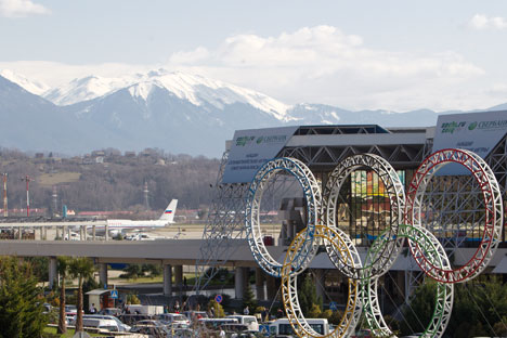 ソチ五輪の開催期間中、ソチ国際空港は4200万ドル(約42億円)の収入を得る可能性がある=ロシア通信撮影