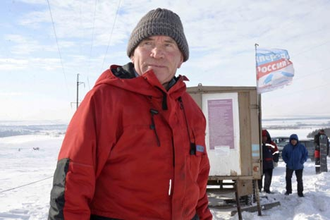 70歳になるピョートル・ゲオルギエビッチ・グリゴリエフさん=ロシースカヤ・ガゼタ(ロシア新聞)撮影