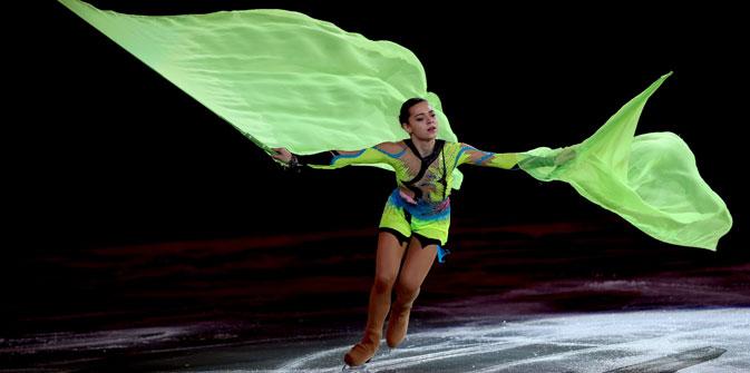 17歳のアデリナ・ソトニコワはソチ五輪の主役の一人、そしてロシアの冬季五輪史で記録をつくった選手だ=Getty Images/Fotobank撮影
