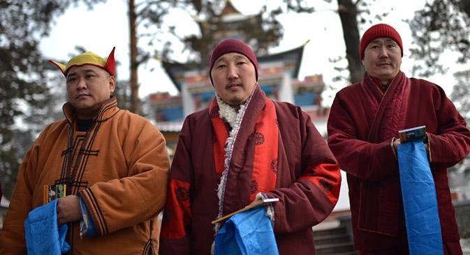 仏教を伝統的宗教とするブリヤート人、カルムイク人、トゥバ人がモスクワに約10万人暮らしている=ラミーリ・シトディコフ/ロシア通信撮影