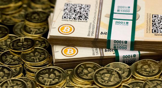 ビットコイン=ロイター通信撮影