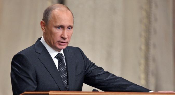 ウクライナに展開する兵力に関しては、プーチン大統領が決定する=ロイター通信撮影