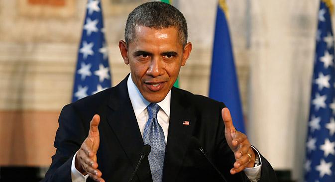 オバマ大統領は、ヨーロッパをロシア産ガスへの依存から解放するため、アメリカ産ガスの輸出を許可する用意があると発表した。=ロイター通信撮影