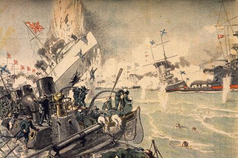 対馬海戦=画像提供:Getty Images / Fotobank