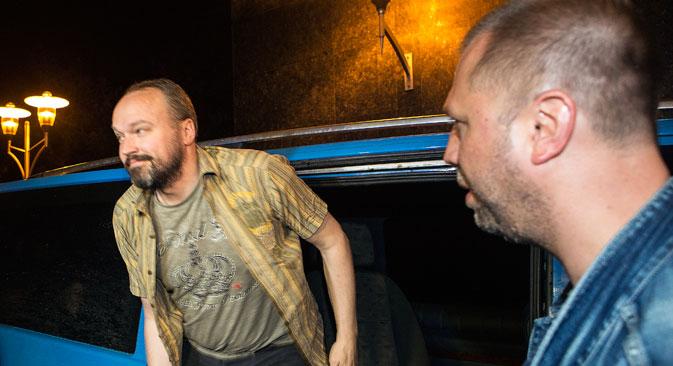 ウクライナ東部ルガンスク州で全欧安保協力機構(OSCE)の国際監視団員4人が、28日に解放された=ロイター通信