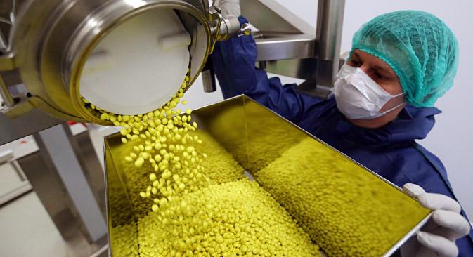 経済開発省によると、両国の製薬分野での協力は、すでに成果を出しているという。中でも目立った事例として、ナイコメッド社(武田薬品が買収したスイスの大手製薬会社)とヤロスラヴリ州の協力をあげることができる。=タス通信