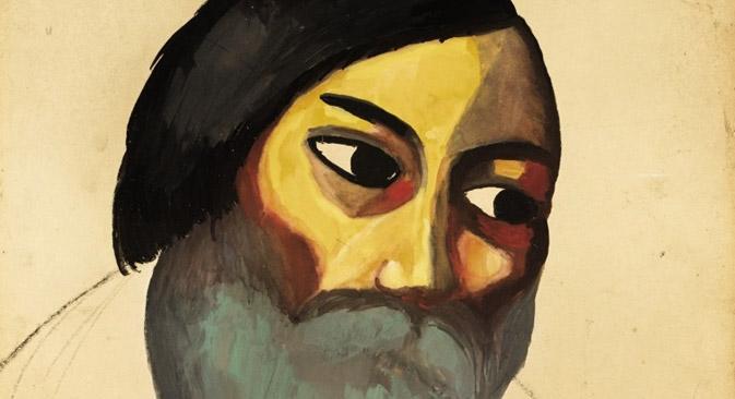 カジミール・マレーヴィチ、『農民の頭部』。 Sotebyの画像提供