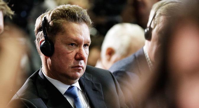 ロシア連邦エネルギー省によると、ウクライナはこれまでのガス料金の滞納額および1立法平方メートルあたり385ドル(約3万8500円)の前払金あわせて30億ドル(約3000億円)強を、ロシアの国営ガス会社「ガスプロム」に支払うことに合意したという。/「ガスプロム」社長アレクセイ・ミレル=AP通信