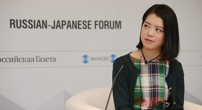 鈴木明子氏は、エウゲニー・プルシェンコの日本での超人気ぶりについて物語った。「エフゲニーの活動は両国にとってとても重要で、架け橋になっている。私も、同じく架け橋になり、2020年の東京五輪に応分の貢献をしたい」=スタニスラーブ・ザレーソフ撮影