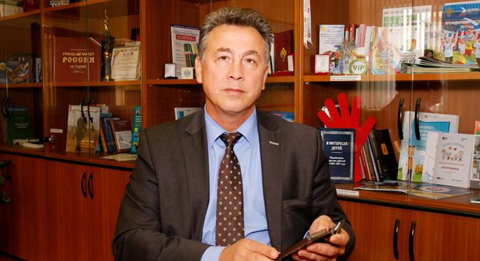 教育省のヴェニアミン・カガノフ次官=ニコライ・コロリョフ撮影