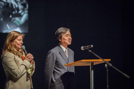 日本の「ベルカントジャパン合同会社」の今瀬康夫代表が、沿海オペラ・バレエ劇場と日本の文化組織の共同プロジェクトについて語った。=Press Photo