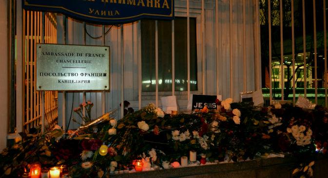 モスクワのフランス大使館=フロラ・ムッサ撮影