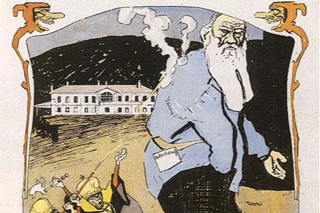 1901年、リオネル・ファイニンガーの風刺画