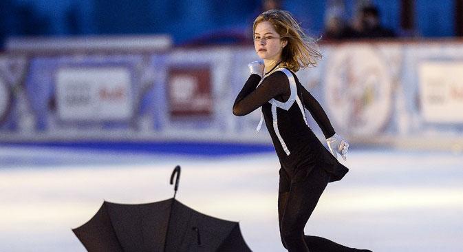 Die Eiskunstläuferin Julia Lipnizkaja ist Markenbotschafterin von Adidas. Foto: Alexander Wilf/RIA Novosti