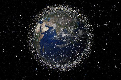 記録されている全物体の70%は、地上2000キロに位置する近地球軌道にある。=写真提供:ESA