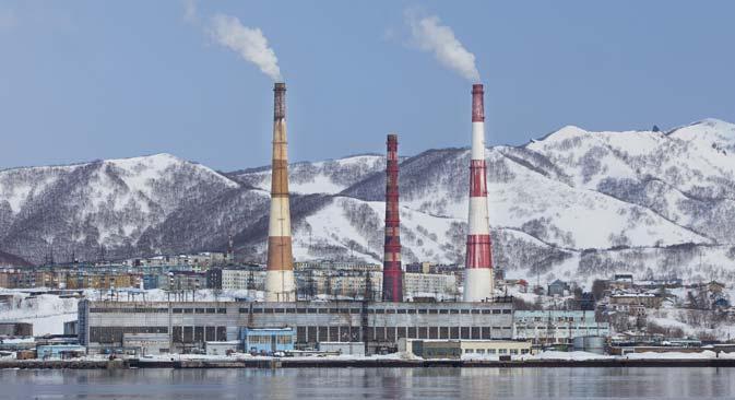 カムチャツカ半島の汽力発電 =Lori/Legion Media撮影