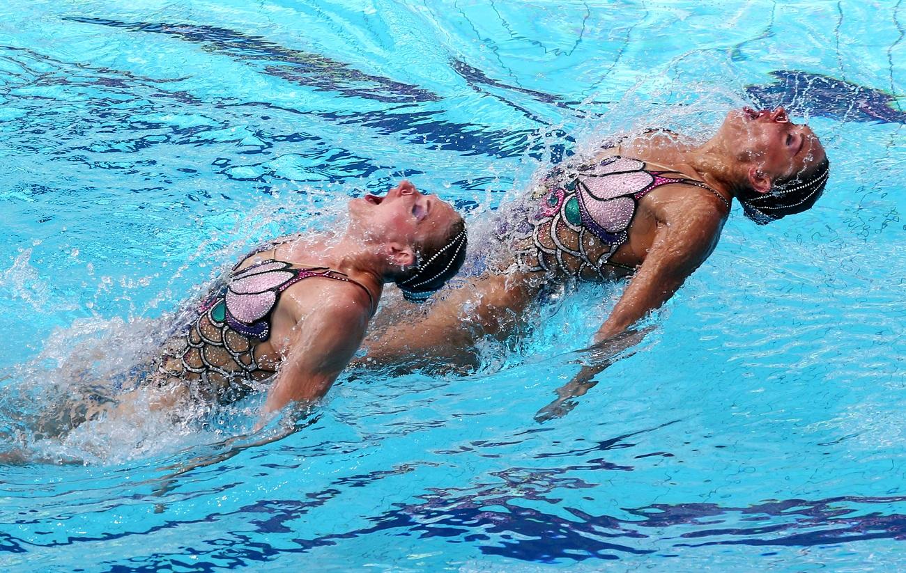 スヴェトラーナ・ロマーシナとナターリア・イシチェンコは無理なく自然にデュエット競技を制した観がある。18日にはチーム競技が早速スタートする。/ リオ五輪の出場