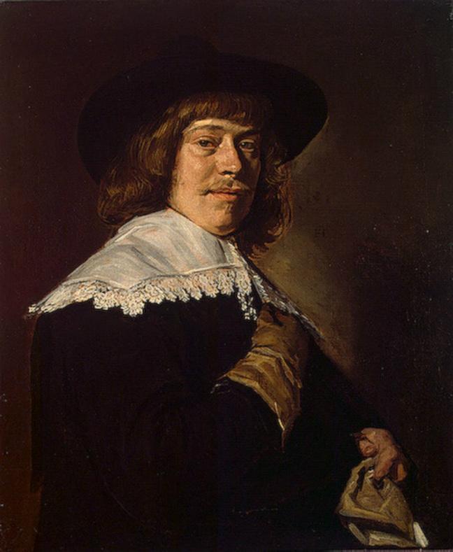 フランス・ハルス「手袋を持つ男の肖像」、エルミタージュ美術館\n