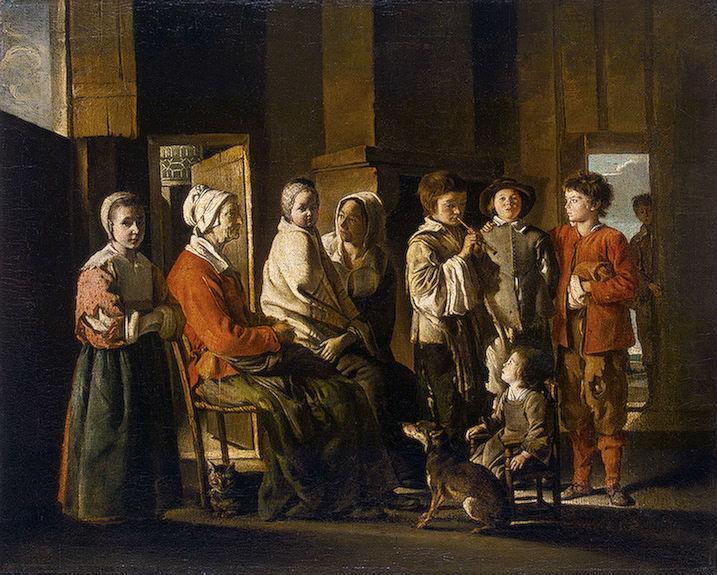 ルイ・ル・ナン「老婆たちの来訪」、エルミタージュ美術館\n