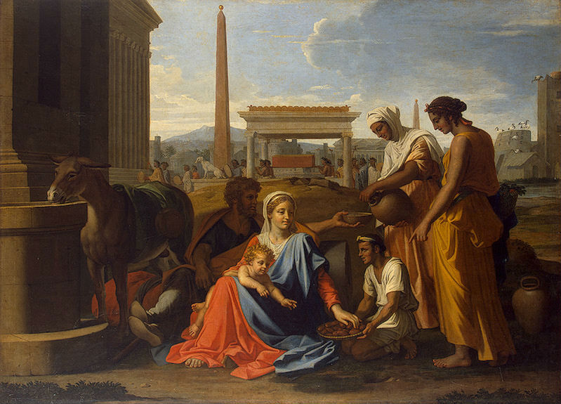 ニコラ・プッサン「エジプトにおける聖家族」、エルミタージュ美術館