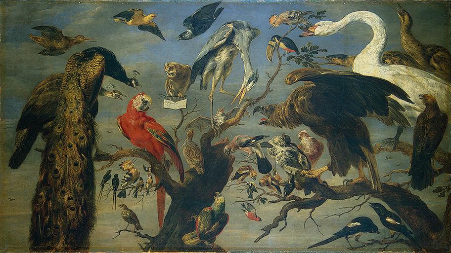 フランス・スネイデルス「鳥のコンサート」、エルミタージュ美術館\n