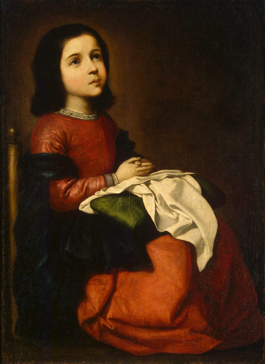 フランシスコ・デ・スルバラン「聖母マリアの少女時代」、エルミタージュ美術館\n