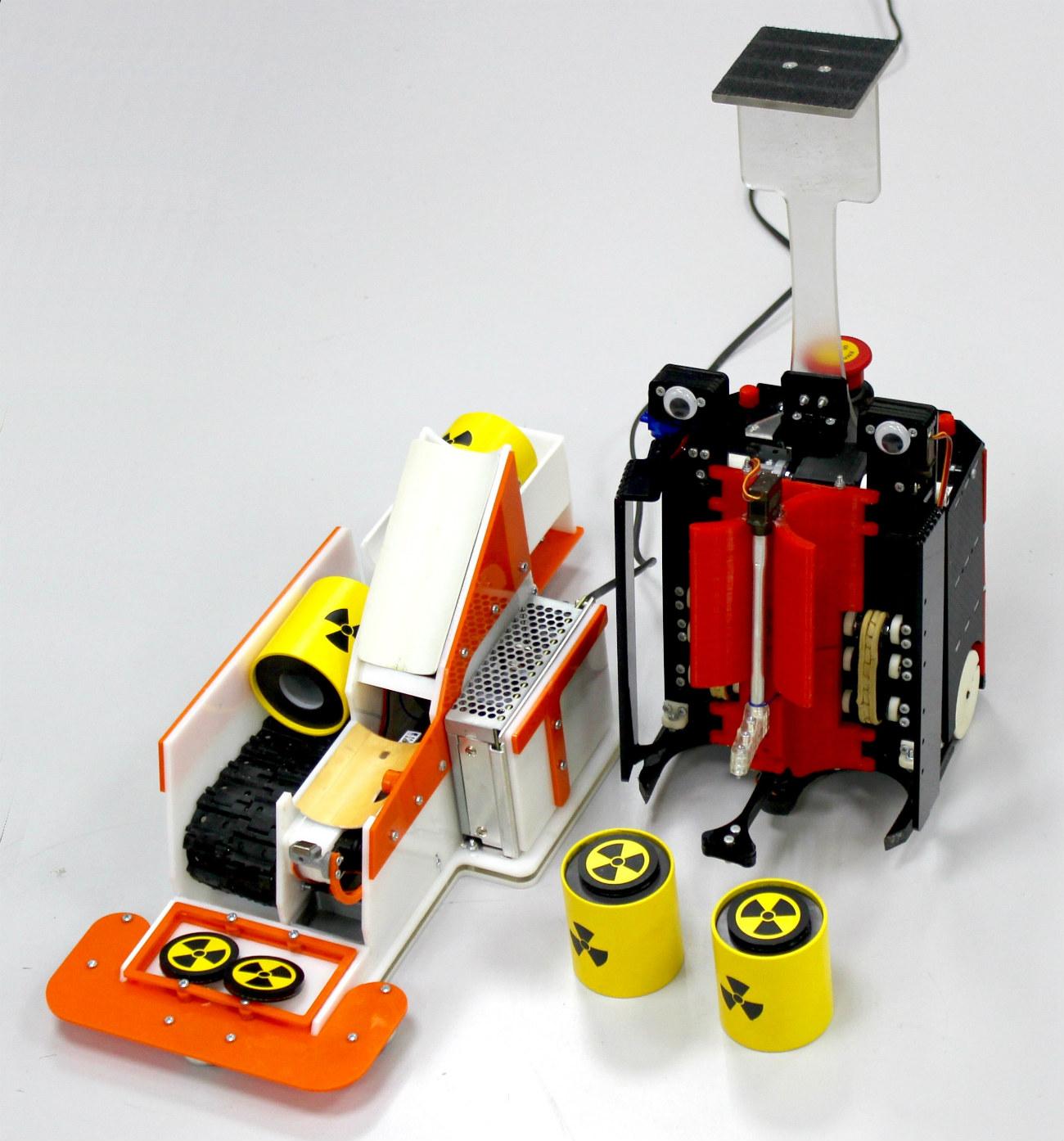 放射能汚染区域で駆動できるロボット\n