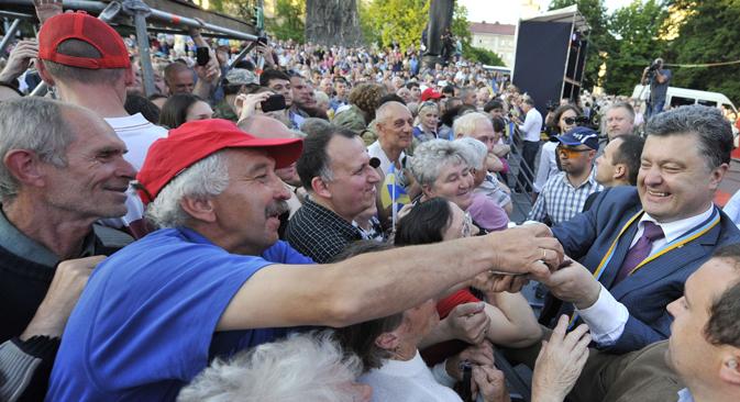 Tycoon Petro Poroshenko leads Ukraine presidential election. Source: Photoshot / Vostock-Photo