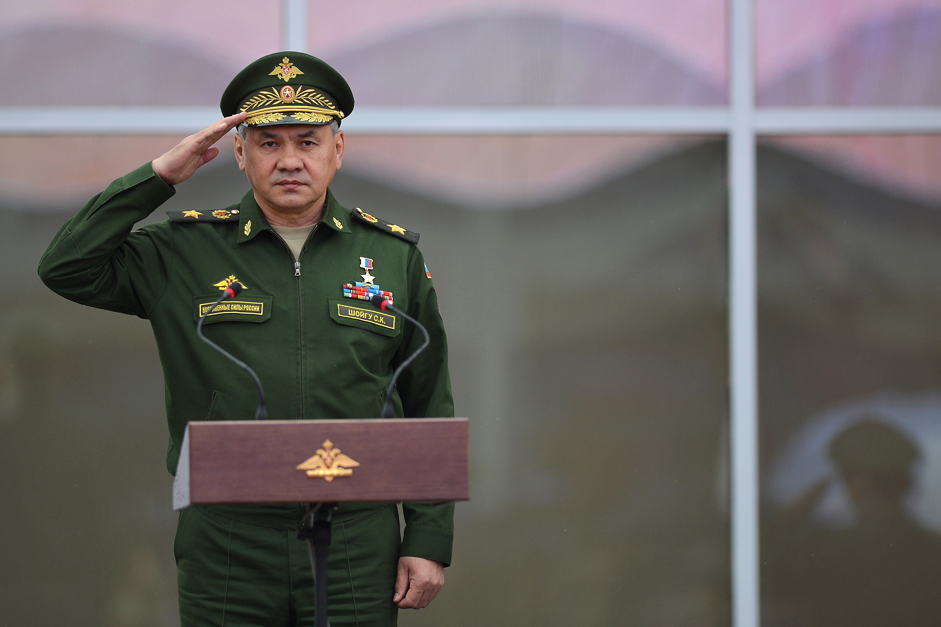 Russian Defense Minister Sergey Shoigu.