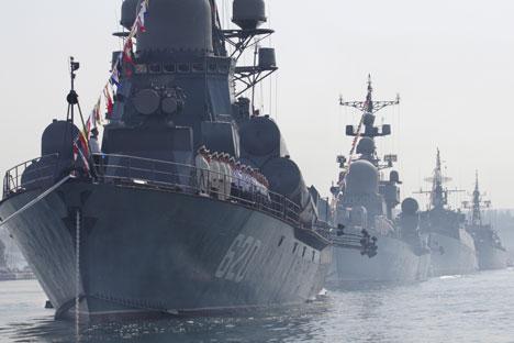 Крајбрежните единици и бродови на Црноморската флота во текот на годината извршиле над 300 воени вежби. Извор: ИТАР-ТАСС.
