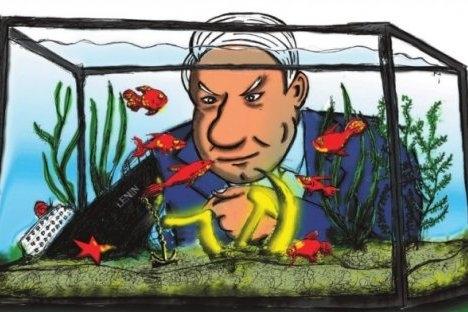 Рускиот однос кон настаните од декември 1991 година принципиелно се разликуваат од сфаќањата што се присутни кај останатите поранешни сојузни републики. Автор на карикатурата: Нијаз Карим.