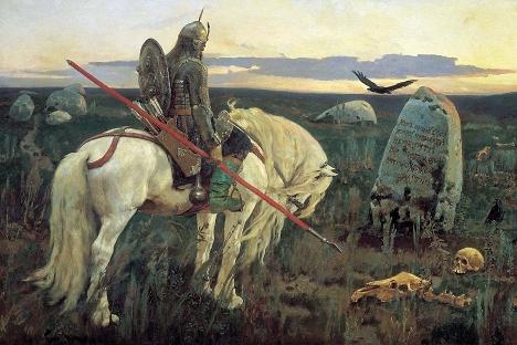 """Витез на крстопат"", слика на Виктор Васнецов."