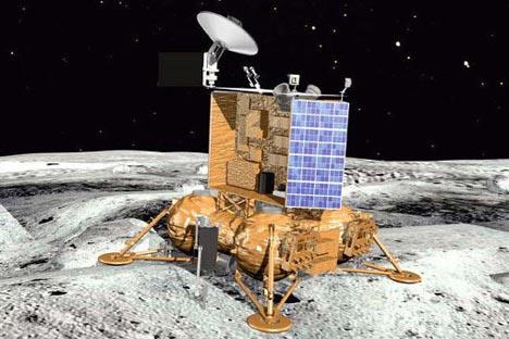 """Апаратот """"Луна-Глоб"""". Извор: Press Photo."""