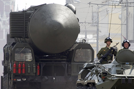 "Ракетен комплекс ""Топољ-М"". Извор: Виталиј Белоусов/РИА Новости."