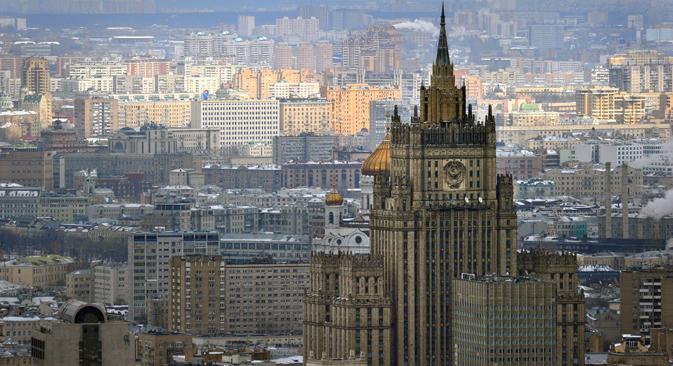 Зградата на Министерството за надворешни работи на Руската Федерација во Москва. Извор: AFP/EastNews.