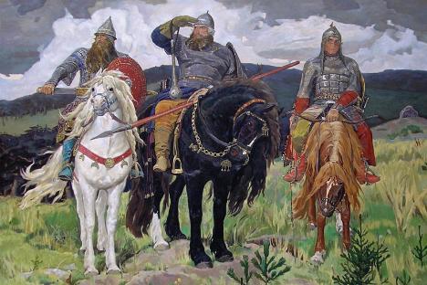 """""""Витези"""". Виктор Васнецов (1898)."""