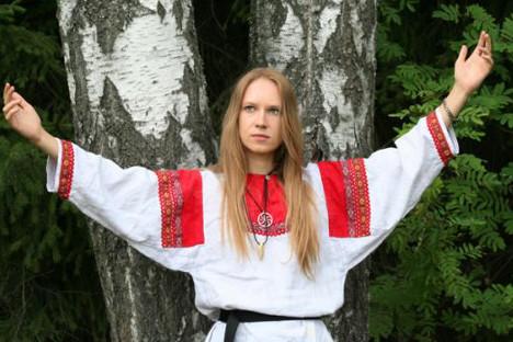 Марија Архипова: врела словенска крв и гласник предците. Извор: arkona-russia.com.