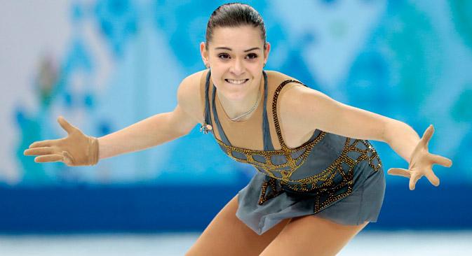Аделина Сотникова, нов олимписки шампион. Извор: AP