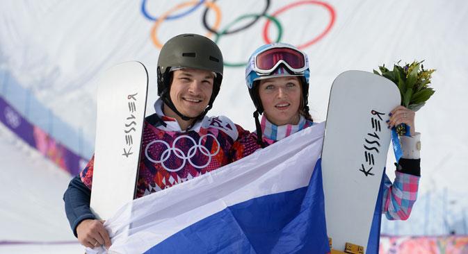 Вик Вајлд: Премногу е убаво за да биде вистинито. Да се освои медал заедно со Аљона, може да се види само на сон. Извор: Алексеј Маљгавко / РИА Новости